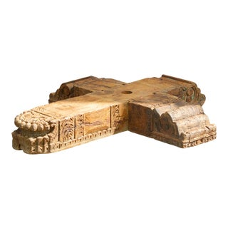 Early 19th Century Teak Anglo Indian Architectural Fragment For Sale