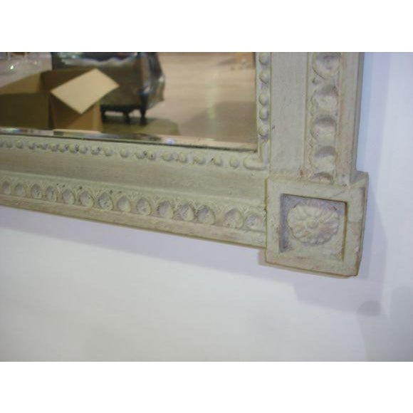 French French Louis XVI-Style Painted Mirror For Sale - Image 3 of 4