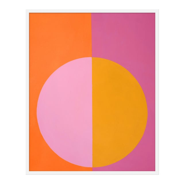 """Medium """"Pink and Orange Forever"""" Print by Stephanie Henderson, 32"""" X 40"""" For Sale"""