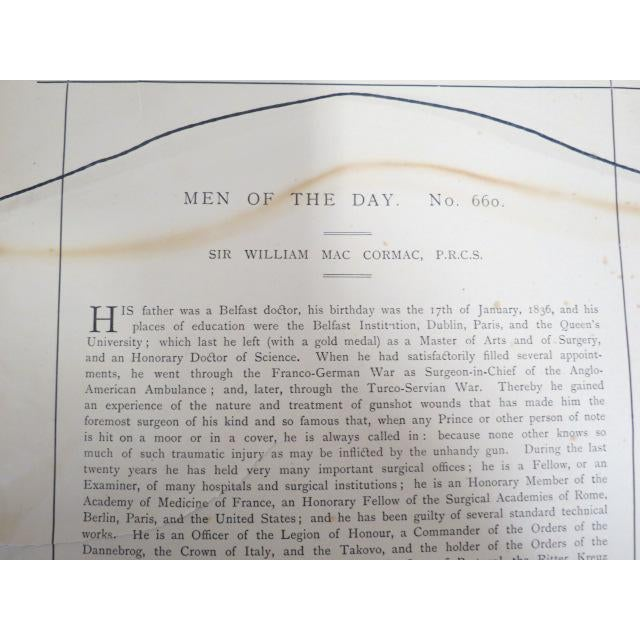 1896 Antique Vanity Fair Men of the Day Lithograph Print For Sale - Image 4 of 7