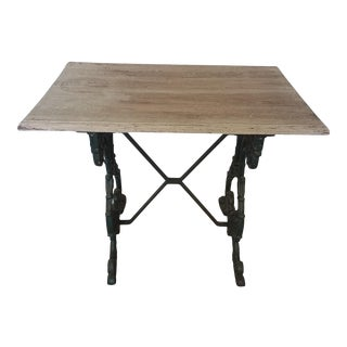 1920s English Iron Base Pub Table For Sale