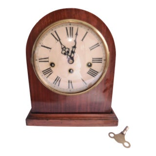 Mid-Century German Mantle Clock With Westminster Chime For Sale