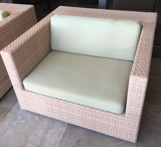 Dedon Lounge Armchairs With Footstools   A Pair   Image 5 Of 11