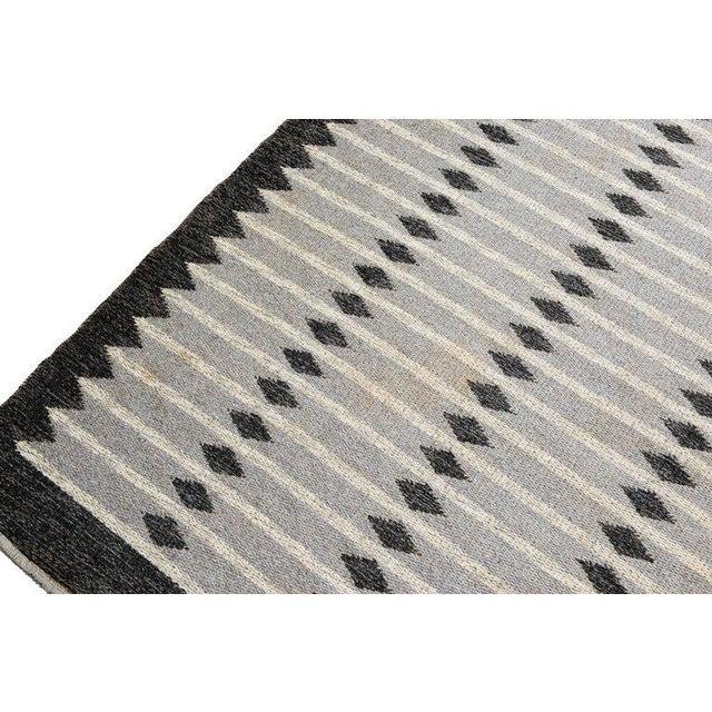 Vintage Swedish Flat-Weave Carpet For Sale In Los Angeles - Image 6 of 7