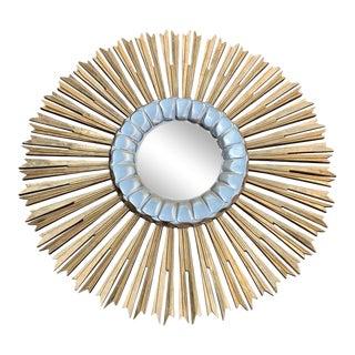 Italian Hand Carved Sunburst Mirror For Sale