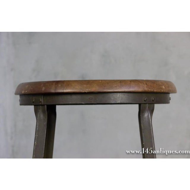 American 1930s Factory Stool - Image 5 of 8