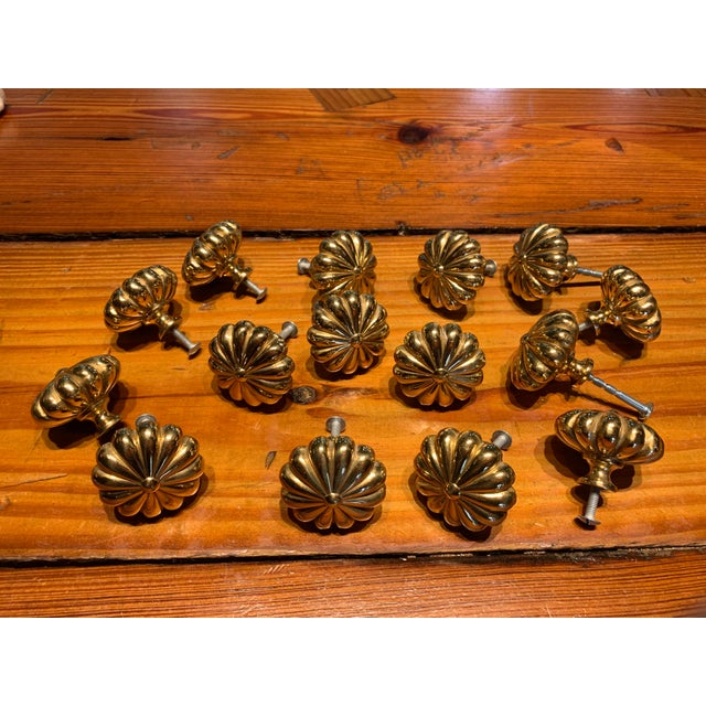 Brass Sherle Wagner Brass Cabinet Hardware For Sale - Image 8 of 8