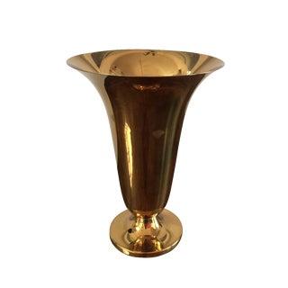 Vintage Dutch Brass Trumpet Vase For Sale