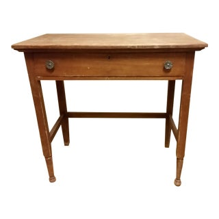 19th Century Country Style Walnut Desk For Sale