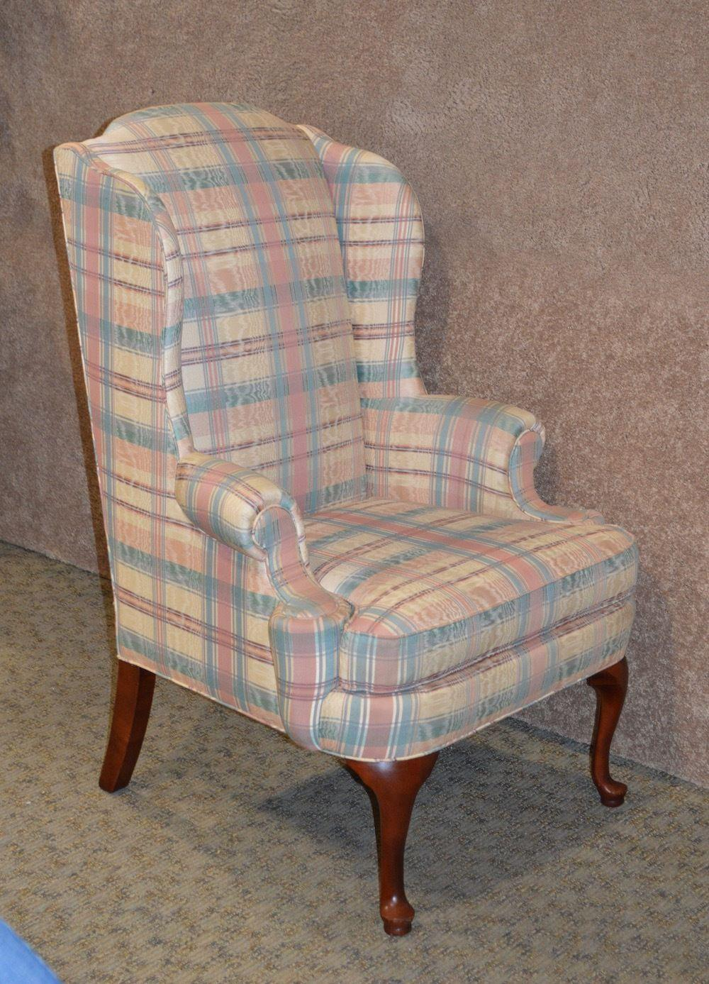 Genial Thomasville Queen Anne Style Wingback Chair For Sale   Image 5 Of 10
