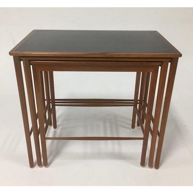 Teak 1970s Mid Century Modern Poul Jeppesen Nesting Tables - Set of 3 For Sale - Image 7 of 7