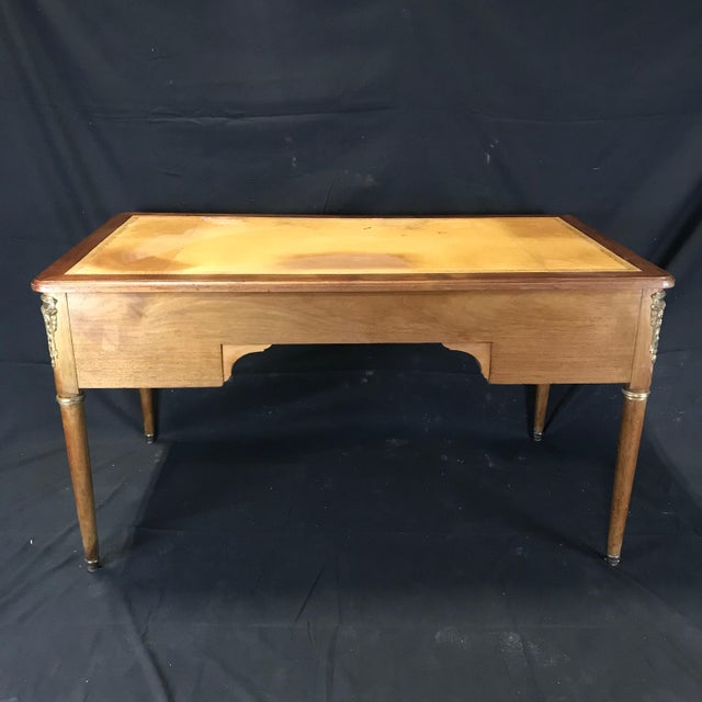 Brown 19th Century French Walnut Louis XVI Desk For Sale - Image 8 of 13