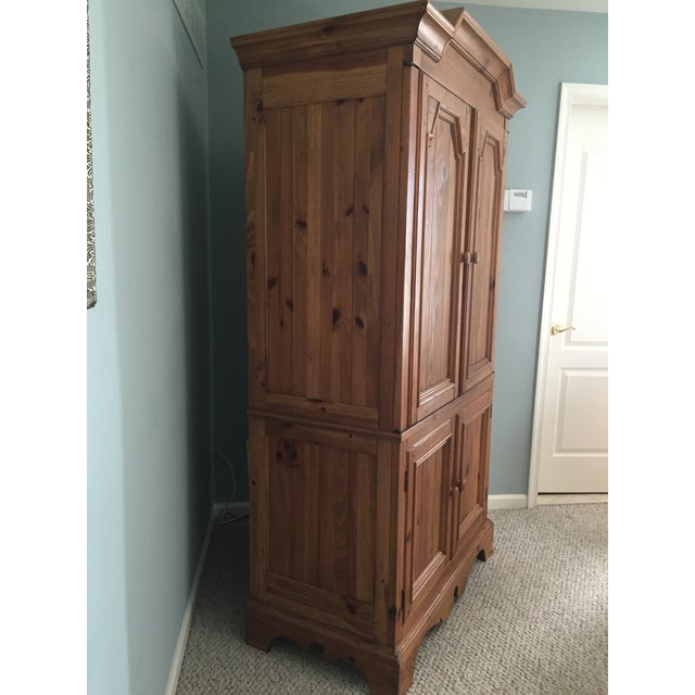 Ethan Allen Wooden Armoire - Image 3 of 9
