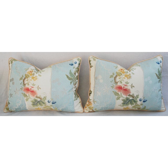 Scalamandre Silk Lampas Pillows - A Pair - Image 6 of 11