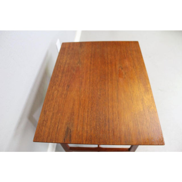 George Tanier Teak Side Table by P. Jeppeson For Sale - Image 7 of 9