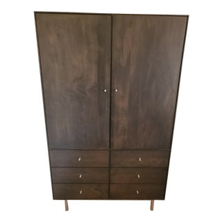 Room and Board Hudson Armoire With Steel Base For Sale