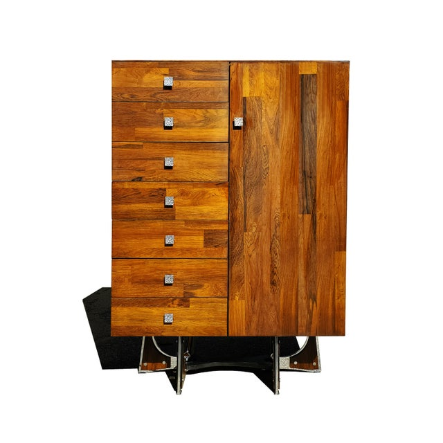 A Mid-Century Modern - Brutalist - Space Age - Wardrobe - Armoire by Henri Valliere For Sale - Image 10 of 10