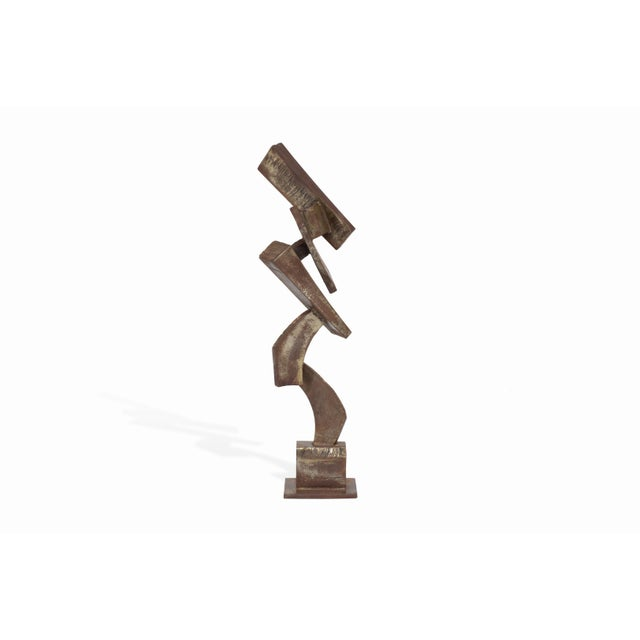 Vintage Mid-Century Brutalist Metal Sculpture by Peter Calaboyias For Sale - Image 13 of 13