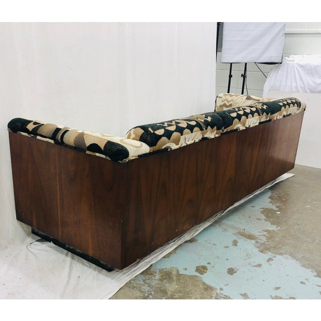 Mid Century Modern Wood Framed Sofa For Sale - Image 12 of 13