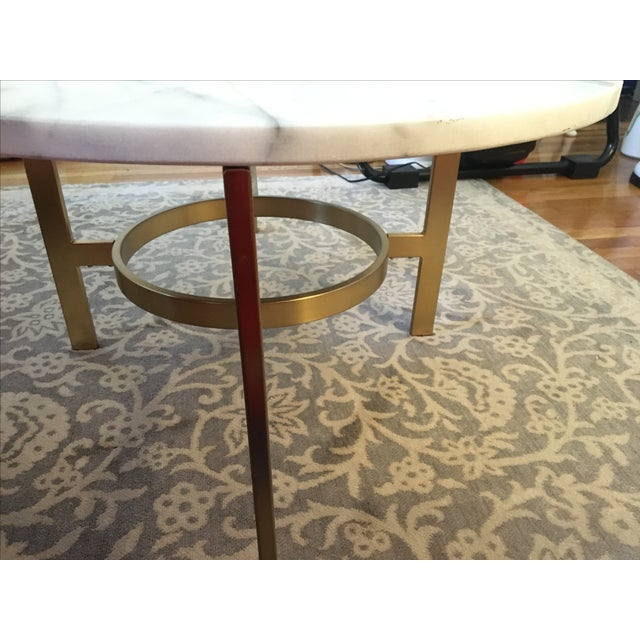 West Elm Marble Coffee Table - Image 5 of 6
