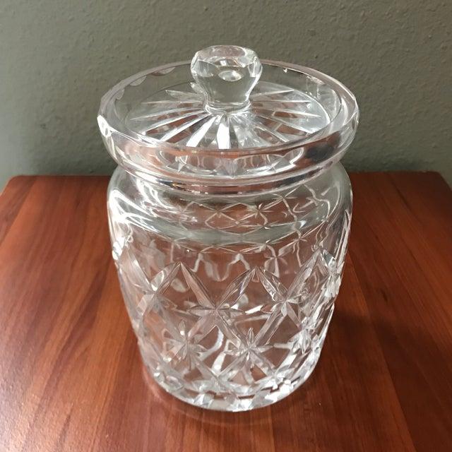 Vintage Tiffany & Co Crystal Lidded Biscuit Jar For Sale - Image 9 of 9