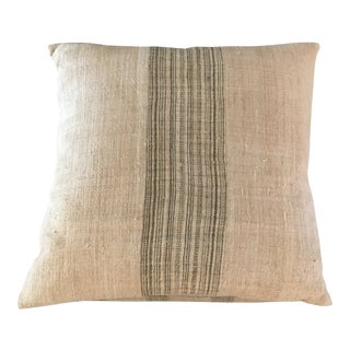 Modern Shoppe by Amber Linen Striped Throw Pillow For Sale