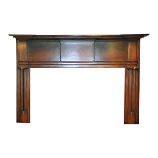 19th Century American Pine Wood Mantel For Sale