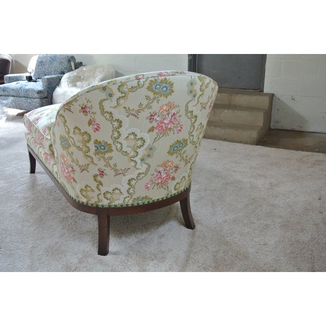 Vintage Floral Chaise Lounge For Sale - Image 5 of 7