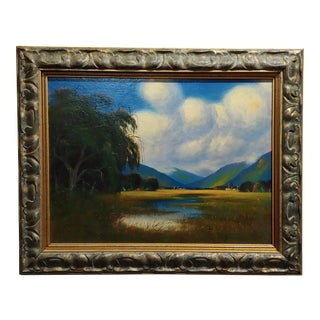 James Everett Stuart- Near Los Gatos,CA - Oil Painting 1924 For Sale