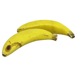 Hand-Painted Alabaster Bananas - a Pair