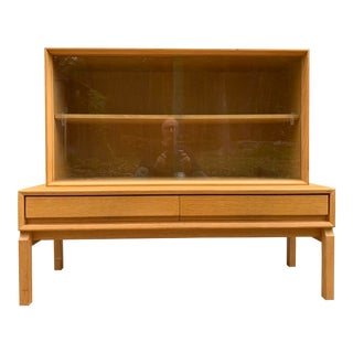 1970's Mid Century Oak Cabinet For Sale