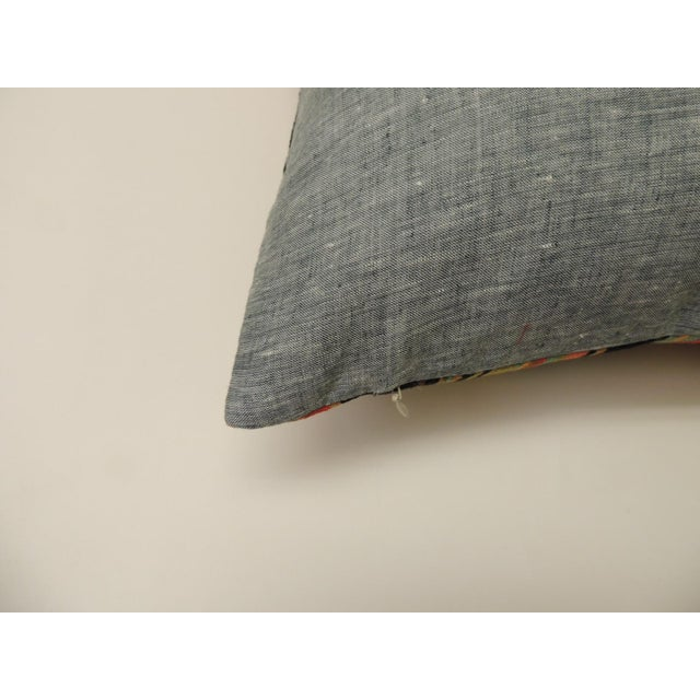 """Early 21st Century Barkcloth """"Delray"""" Multi-Color Stripes Decorative Pillow For Sale - Image 5 of 6"""