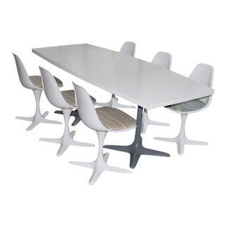 Mid-Century Tulip Burke Conference Dining Set - Set of 4- Saarin Style
