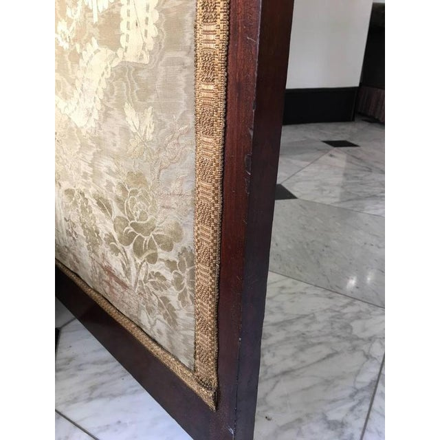 Fine English 19th C. Three-Panel Mahogany and Mirror Folding Screen For Sale In Savannah - Image 6 of 6