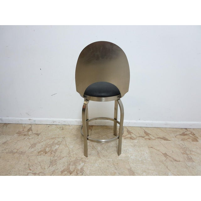 Mid-Century Metal Industrial Stool For Sale - Image 4 of 10