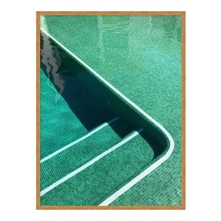 Pool by Christine Flynn in Gold Framed Paper, Medium Art Print For Sale