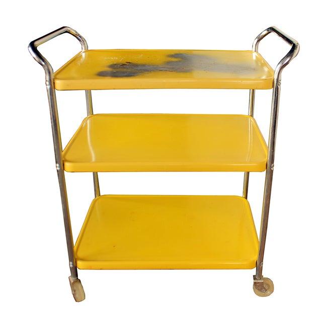 Mid Century Metal Bar Cart - Image 1 of 2