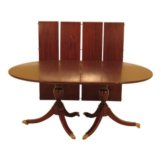 1970s Tradiitonal Duncan Phyfe for Henkel Harris Oval Mahogany Dining Table For Sale