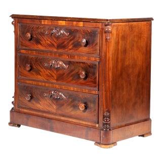 Ca. 1860 Mitchell & Rammelsberg Mahogany Rococo Revival Dresser