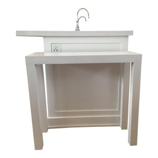 Handmade White Parsons Table