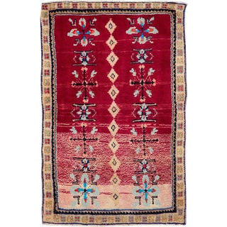 """Vintage Persian Mahal Rug – Size: 1' 9"""" X 2' 8"""" For Sale"""