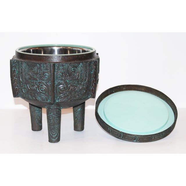1960s James Mont-Attributed Mayan Ice Bucket For Sale - Image 5 of 7
