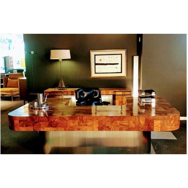 "1970s Mid-Century Modern Paul Evans ""Cityscape"" Executive Desk For Sale In Denver - Image 6 of 12"