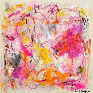 Lesley Grainger 'Kid in a Candy Shop' Original Abstract Painting For Sale