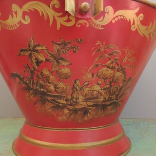 Vintage French Tole Painted Bucket Coal Shuttle Preview