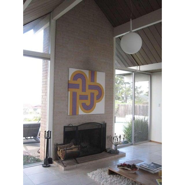 """1973 Serigraph """"Weave"""" X Large Art Reis Manwaring - Image 4 of 4"""