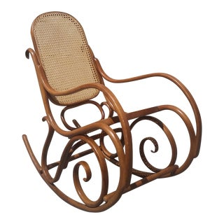 Vintage 1970s Thonet Bentwood Rocker For Sale