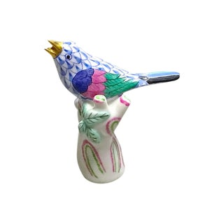 Vintage Herend Porcelain Finch Figurine For Sale