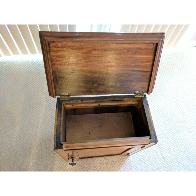 Antique Lift Top Cabinet/Work Box/Commode | Chairish