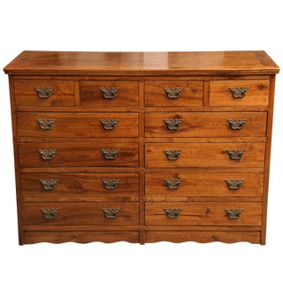 Antique Chinese Colonial Chest of Drawers with Butterfly Hardware, 20th Century